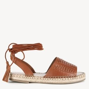 NWT Sole Society Clover Lace Up Cognac Espadrille